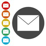 Mail Icon. Simple vector icon stock illustration