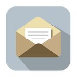 Mail icon. Vector color Mail icon on white background royalty free illustration