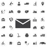 Mail icon. Vector. Illustration. Set of Post delivery icons royalty free illustration