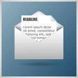 Mail Icon Vector Template Stock Photo