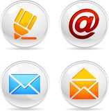 Mail Icons. Royalty Free Stock Image