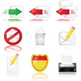 Mail icons Royalty Free Stock Photos