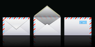 Mail icons. Three different variants Royalty Free Stock Image