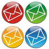 Mail icons Royalty Free Stock Photography