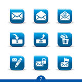 Mail icons 7..smooth series Royalty Free Stock Photography