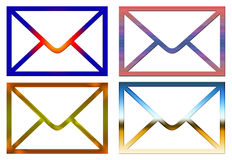 Mail icons Stock Photo