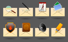 Mail icons. Realistic vector mail icons for web or software Stock Images