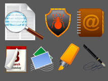 Mail icons. Realistic vector mail icons for web or software Royalty Free Stock Photo