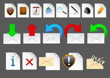 Mail icons. Realistic vector mail icons for web or software Royalty Free Stock Image