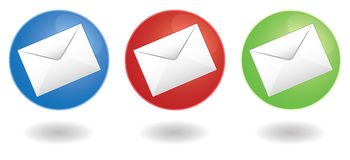 Mail icons Stock Photography