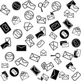 Mail icons background Stock Photography