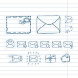 Mail icons. Beautiful vector design Royalty Free Stock Image