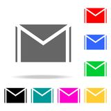 Mail icons. Elements of human web colored icons. Premium quality graphic design icon. Simple icon for websites, web design, mobile. App, info graphics on white Royalty Free Stock Photography