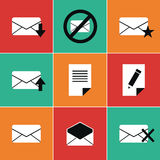 Mail icons. This is file of EPS8 format Stock Image