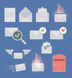 Mail icons. RGB. Vector contains transparent objects and meshes Royalty Free Stock Images