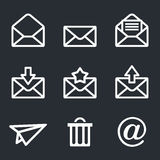 Mail icons set: Envelope, plane, shopping and other Royalty Free Stock Photography