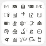 Mail icons set Stock Image