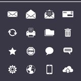 Mail icons set - Simplus series Royalty Free Stock Image