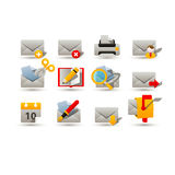 Mail icons. Set of web and mail icons Royalty Free Stock Image