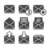 Mail Icons. Set of mail icons on white background Royalty Free Stock Images