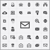 Mail icons universal set. For web and mobile Royalty Free Stock Photos