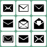 Mail Icons. Various Vector Mail Icons Set Illustration Stock Photography