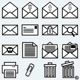 Mail icons. Mail icons for web design Stock Photo