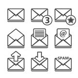 Mail Icons. On white background Royalty Free Stock Photo