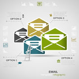 Mail infographics Stock Photography