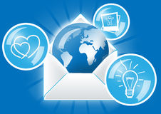 Mail and Internet Concept. Internet Concept, World of Internet communication Royalty Free Stock Image