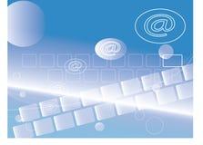 @ mail internet concept. @ mail symbol internet concept on keyboard for background royalty free illustration