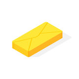 Mail isometric icon vector. Royalty Free Stock Photos