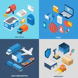 Mail Isometric Set Stock Image