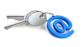 Mail Key Stock Image