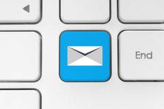 Mail keyboard button on grey keyboard Royalty Free Stock Photography