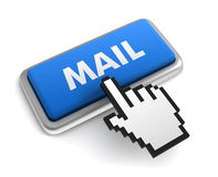 Mail keyboard concept 3d illustration Royalty Free Stock Photos