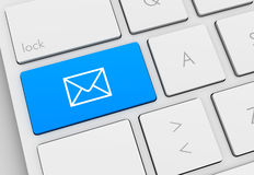 Mail keyboard concept illustration Royalty Free Stock Photos
