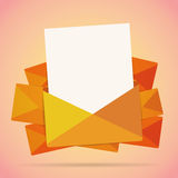 Mail Letter Copyspace Background. Vector illustration of mail letter copyspace background Stock Photos