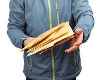 Mail letter envelopes delivery Stock Photos