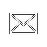 Mail letter symbol Stock Image