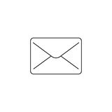 Mail line icon, message outline vector logo. Illustration, envelope linear pictogram isolated on white Royalty Free Stock Photography