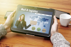 Mail and logistics Royalty Free Stock Photography