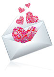 Mail with love Stock Photo