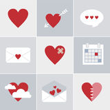 Mail love icons Royalty Free Stock Photos