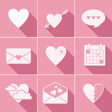 Mail love icons Stock Photos