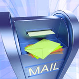 Mail On Mailbox Showing Sending Letters Royalty Free Stock Images