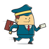 Postman delivering mail Royalty Free Stock Photo