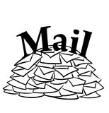 Mail many message Stock Images