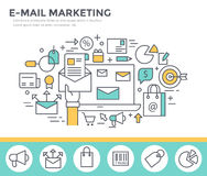 Mail marketing concept illustration. Royalty Free Stock Image