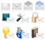 Mail Marketing Icon Set Royalty Free Stock Image